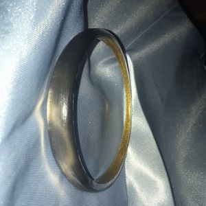 Alexis Bittar tapered bangle gray gunmetal